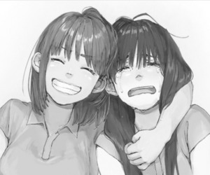 girl, friends, and cute image