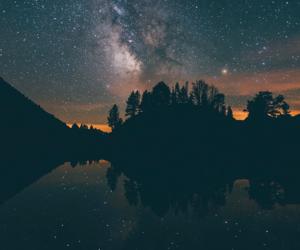 stars, bright, and dark image