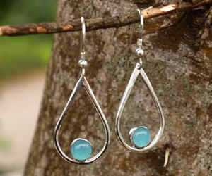 aqua, handmade, and sterling silver image