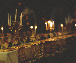candelabra, candles, and depth of field image