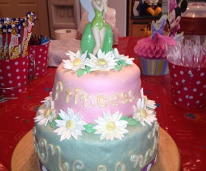cake, disney, and tinkerbell image