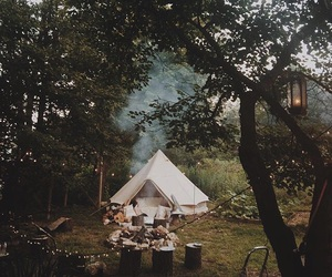 camping and light image