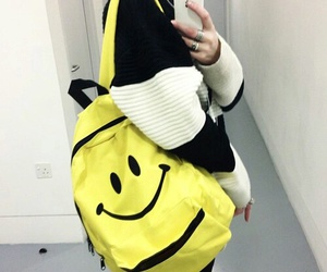 grunge, backpack, and pale image