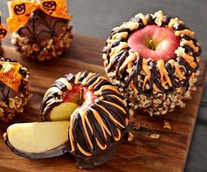 apple, chocolate, and food image