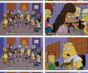 milhouse, lisa, and the simpsons image