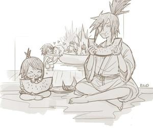 sasusaku, itachi, and naruto image