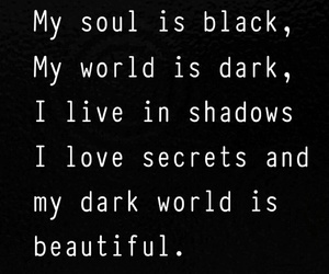 beautiful, words, and black image