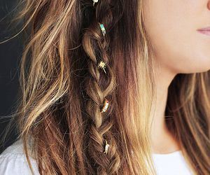 hair, braid, and boho image