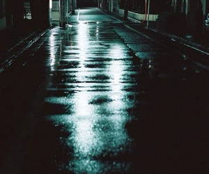 night, street, and rain image