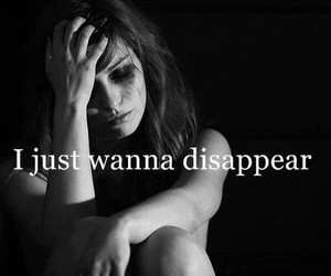 sad, disappear, and depressed image
