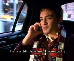 chuck bass, gossip girl, and bitch image