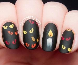 nails, Halloween, and nail art image
