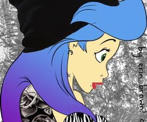 ariel, punk, and disney image