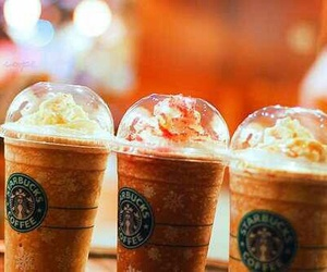 drinks, fall, and starbucks image