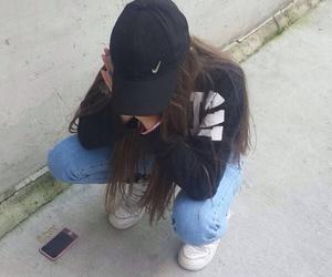 girl, grunge, and nike image