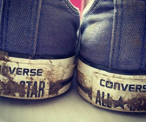blue, muddy, and converses image