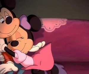 mickey, love, and minnie image