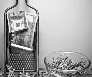 black, grey, and money image