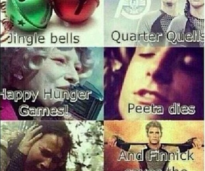 katniss, peeta, and jingle bells image