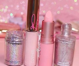 beauty, glitter, and lipstick image