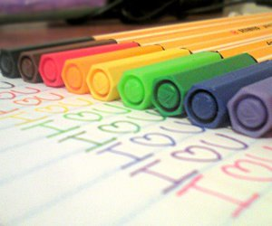 colors, i, and pens image