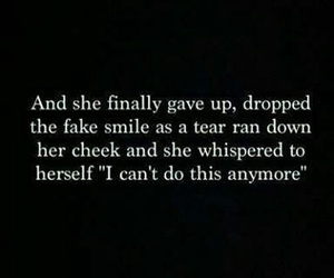tears, sad, and quote image