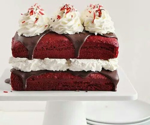 cake, delicious, and whipping cream image