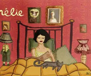 amelie, amelie poulain, and bed image