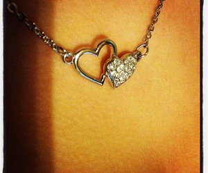 heart, jewelry, and neckless image
