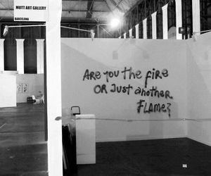 fire, flame, and quotes image