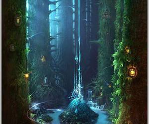 fantasy, forest, and images image