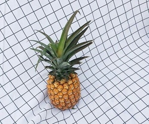 pineapple, white, and fruit image