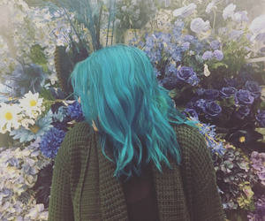 alternative, blue, and blue hair image