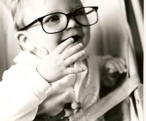 baby, girl, and glasses image