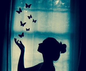 butterfly, dreams, and shadow image