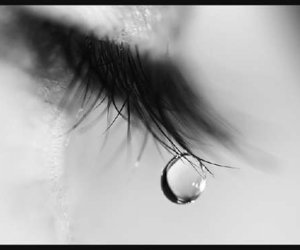 black&white, crying, and tear image