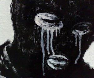 crying and mask image