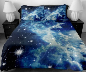 galaxy, beautiful, and bed image