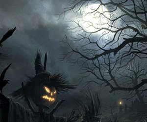 Darkness, Halloween, and scarecrow image
