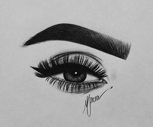 art, black&white, and drawing image