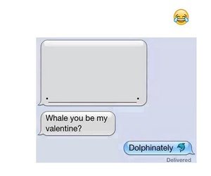 funny, whale, and valentine image