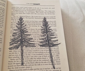 book, tree, and vintage image