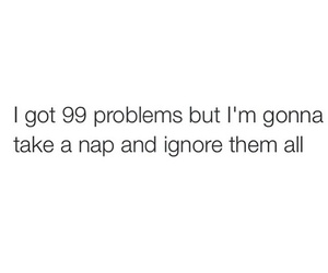 funny, problem, and nap image
