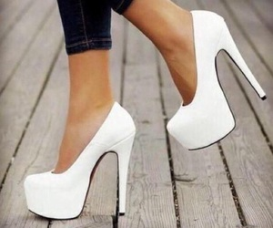 white, shoes, and heels image