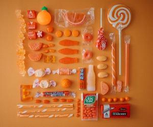 orange, candy, and sweet image
