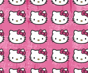 pink, background, and hello kitty image