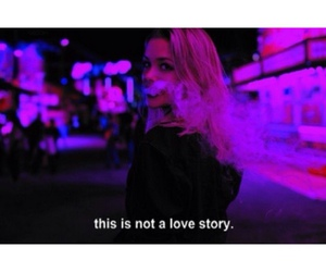 girl, smoke, and love image