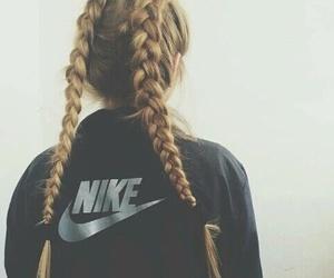 braids, grunge, and nike image