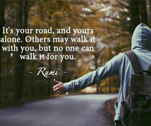 alone, quote, and road image