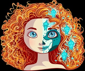 disney, merida, and brave image